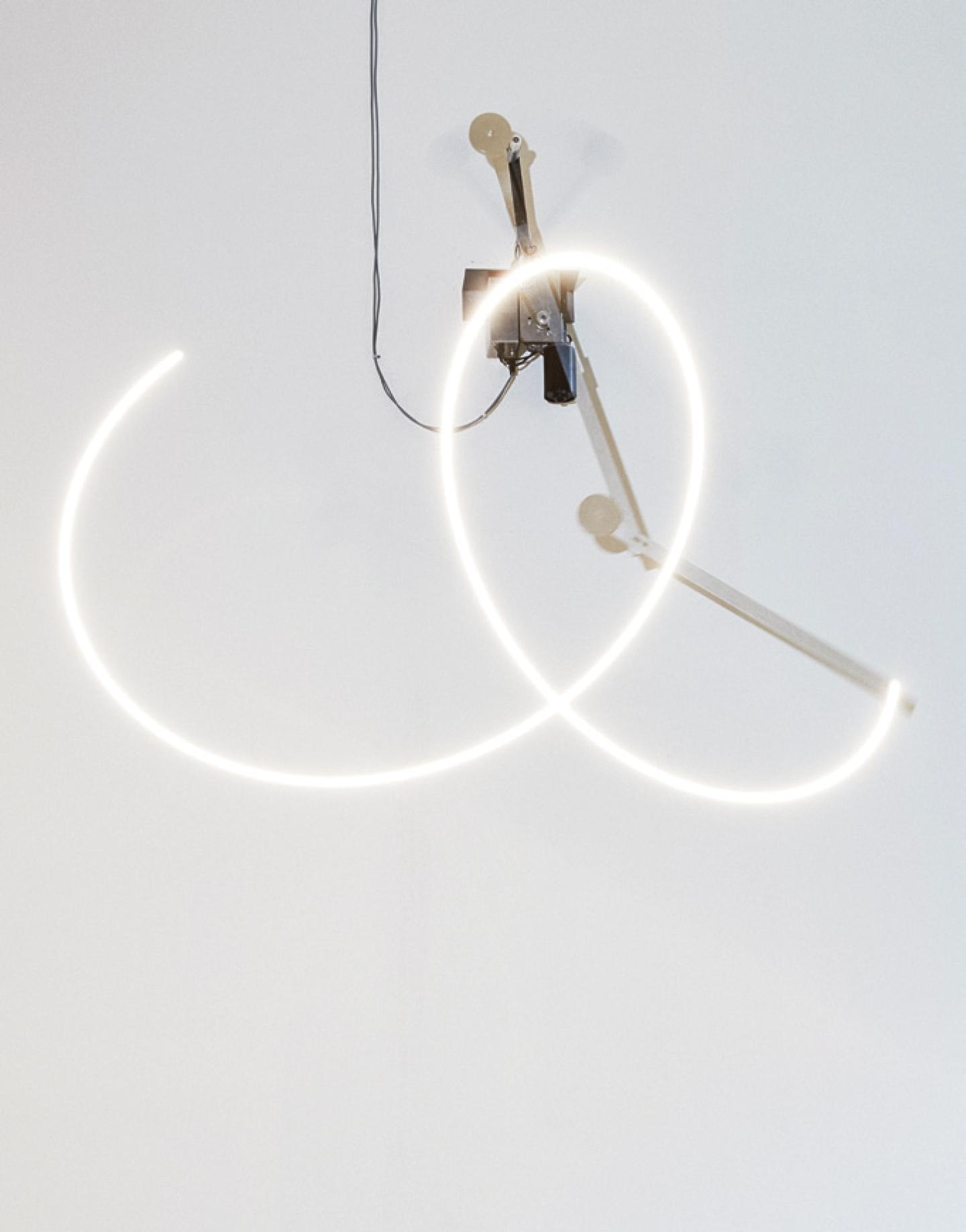 'Your unpredictable sameness', Aluminium, LED lights, motors, control units, Dimensions variable, 2014