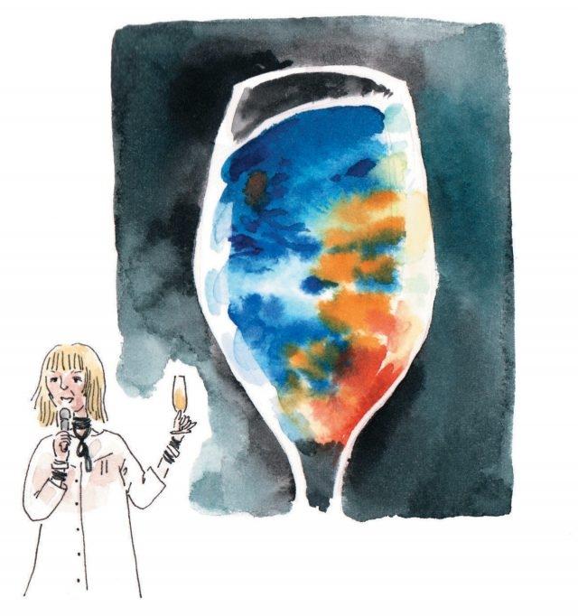 광주비엔날레의 예술 총감독 마리아 린드와 아그니에슈카 폴스카의 '휘발유를 담은 유리잔'.