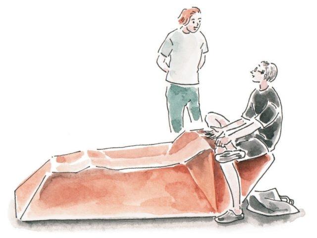 미래의 인류를 상상하며 만든 의자, 타일러 코번의 '인체공학의 미래'.