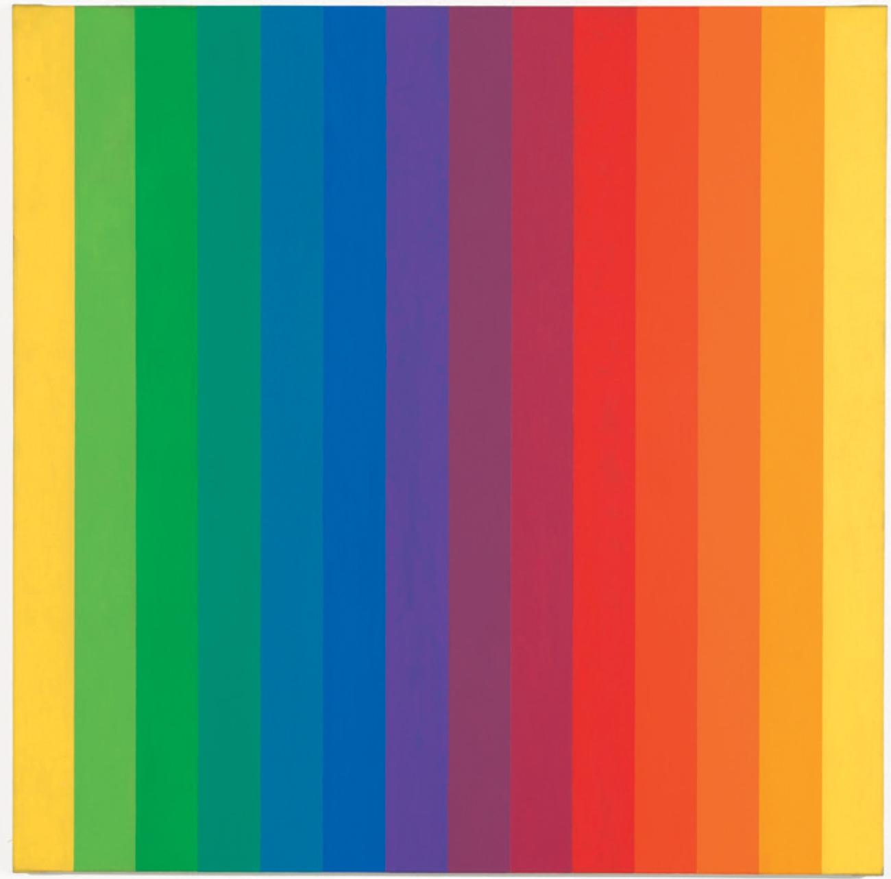 엘스워스 켈리(Ellsworth Kelly), 'Spectrum I', Oil on Canvas, 153.04×153.04cm, 1953