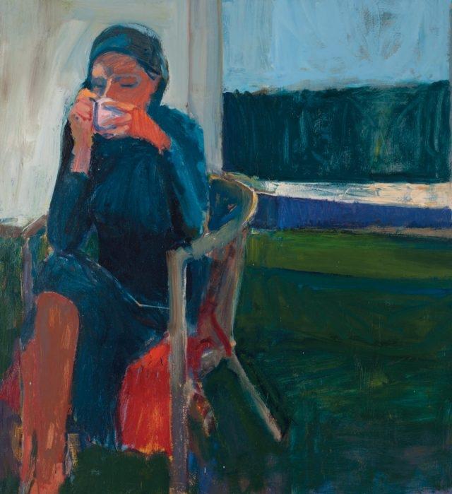 리처드 디벤콘(Richard Diebenkorn), 'Coffee', Oil on Canvas, 146.05×132.72cm, 1959
