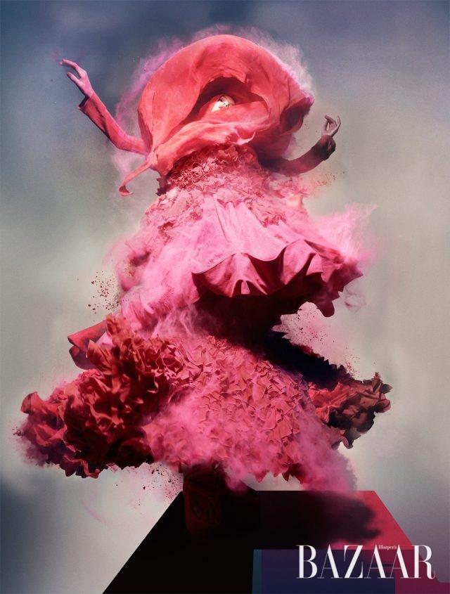 Pink Powder, Lily Donaldson wearing John Galliano, 2008