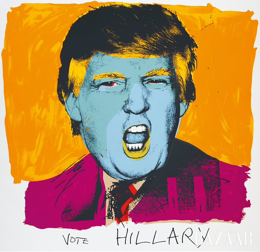데보라 카스(Deborah Kass), 'Vote Hillary', 2016 ©Deborah Kass. Image Courtesy of Paul Kasmin Gallery