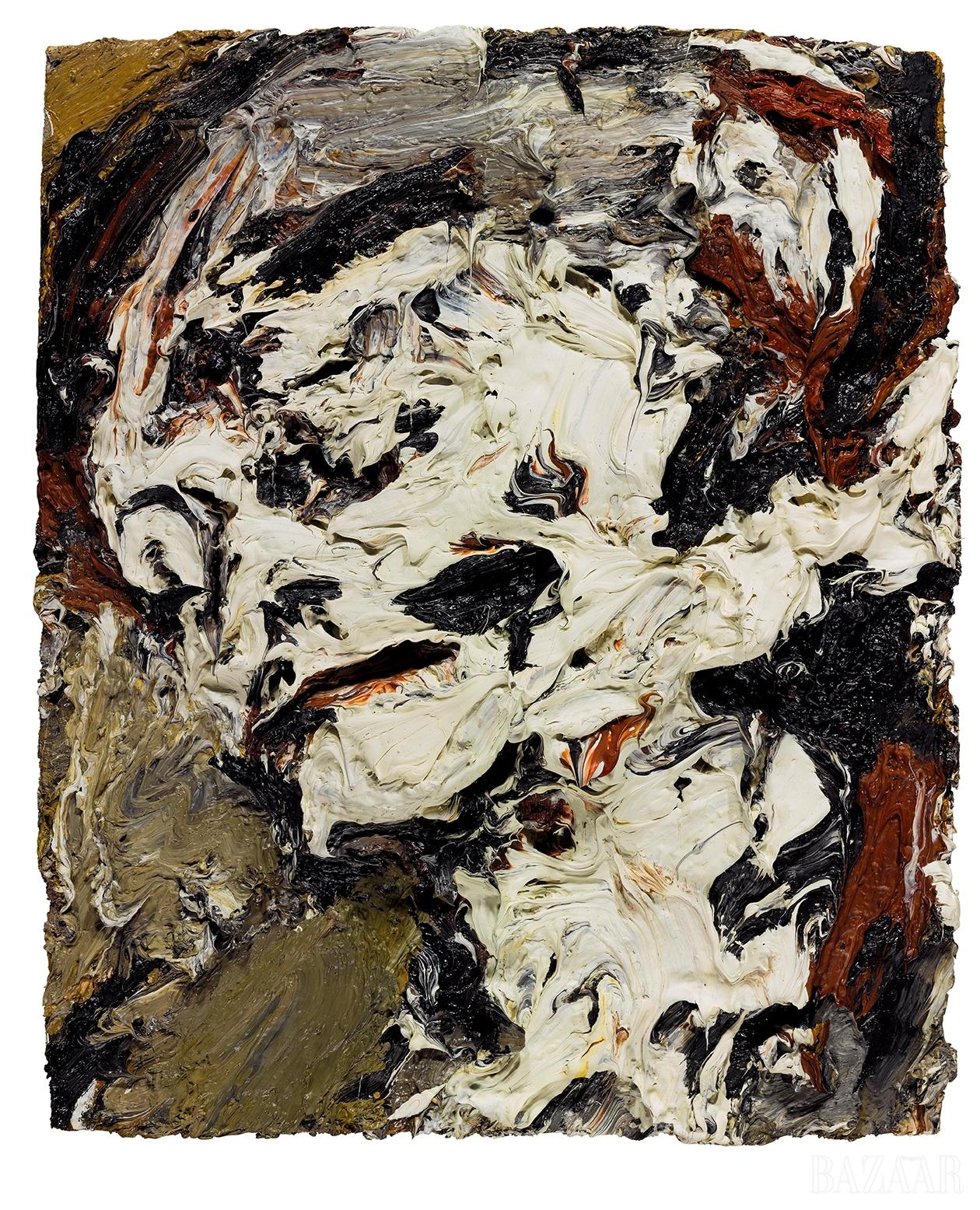 프랑크 아우어바흐(Frank Auerbach), 'Head Of Gerda Boehm', Oil