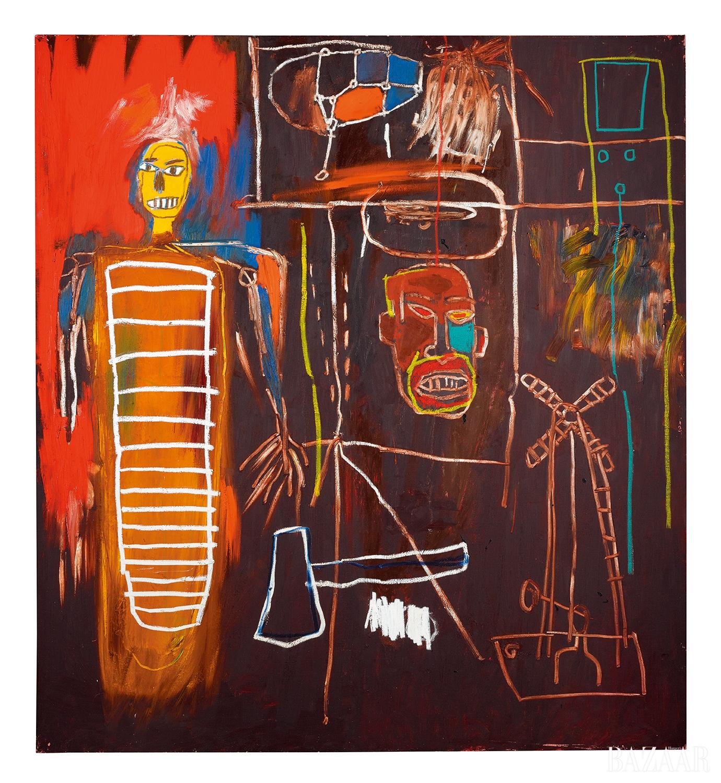 장 미셸 바스키아(Jean-Michel Basquiat), 'Air Power', Acrylic and