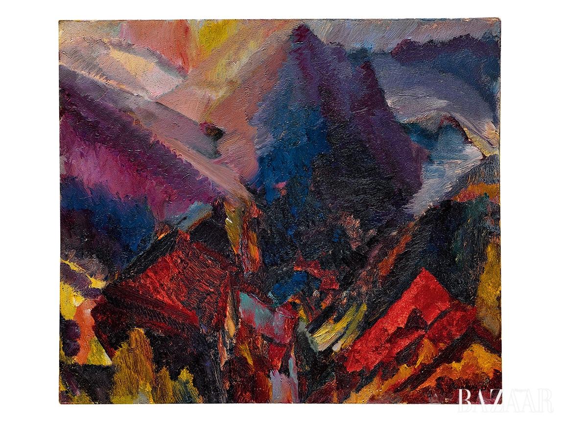 데이비드 봄버그(David Bomberg), 'Sunrise In The Mountains, Picos De Asturias', Oil on Canvas, 59 by 67cm, 1935