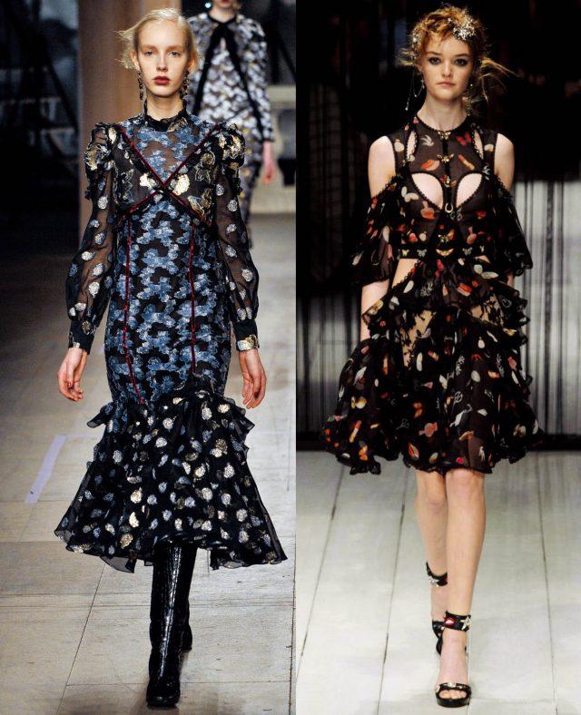 Romantic Dress 왼쪽Erdem, 오른쪽Alexander McQueen.