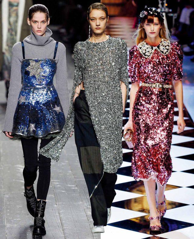 Sparkling Sequins 5. 왼쪽부터 Valentino, Ports 1961, Dolce & Gabbana