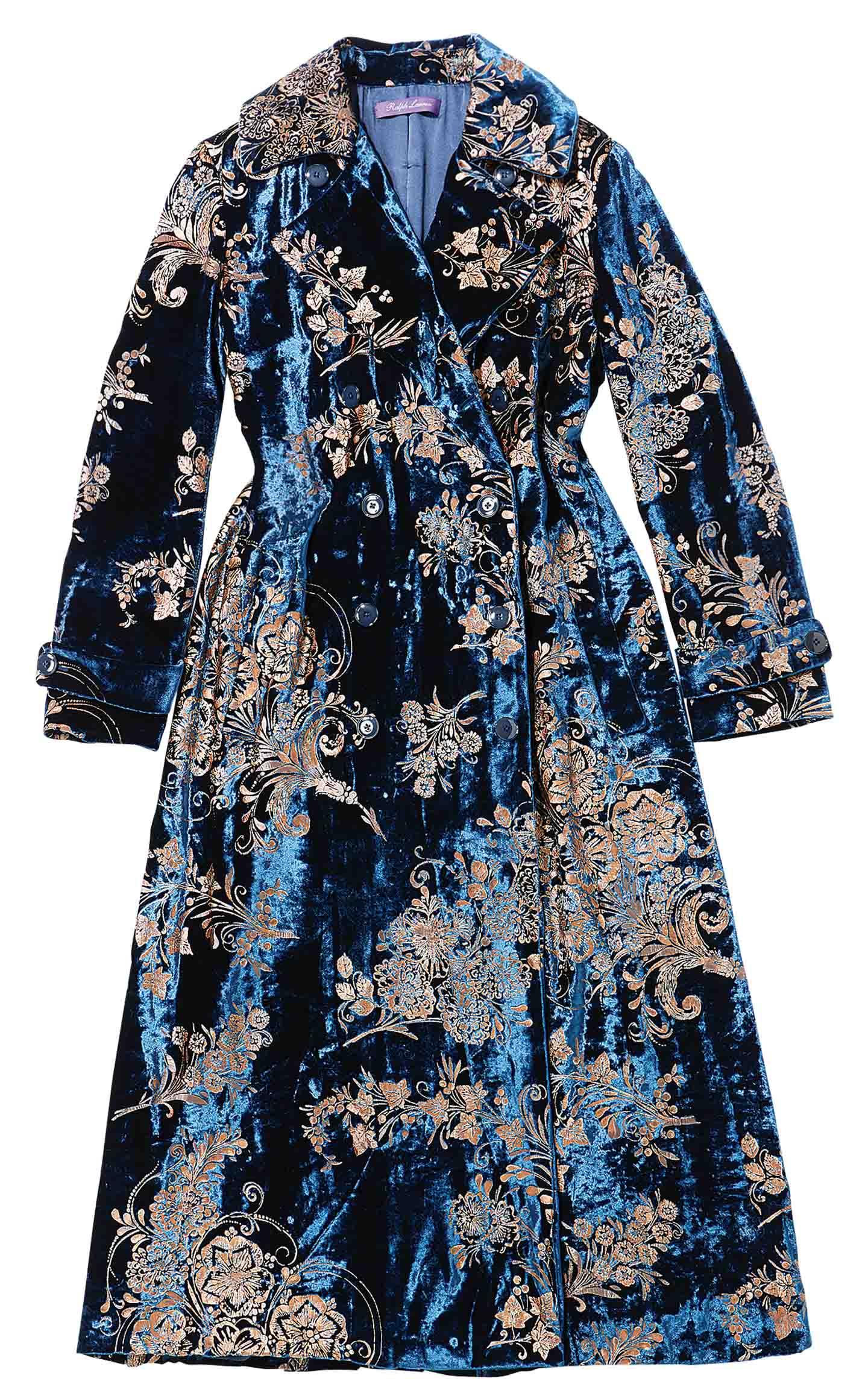 고전적인 패턴의 벨벳 코트는 가격 미정으로 <strong>Ralph Lauren Collection</strong>