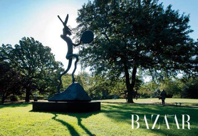 프리즈 위크에 리젠트 파크는 프리즈 조각공원이 된다.