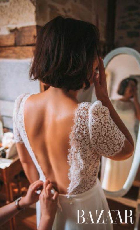 웨딩드레스를 입는 가장 떨리는 순간