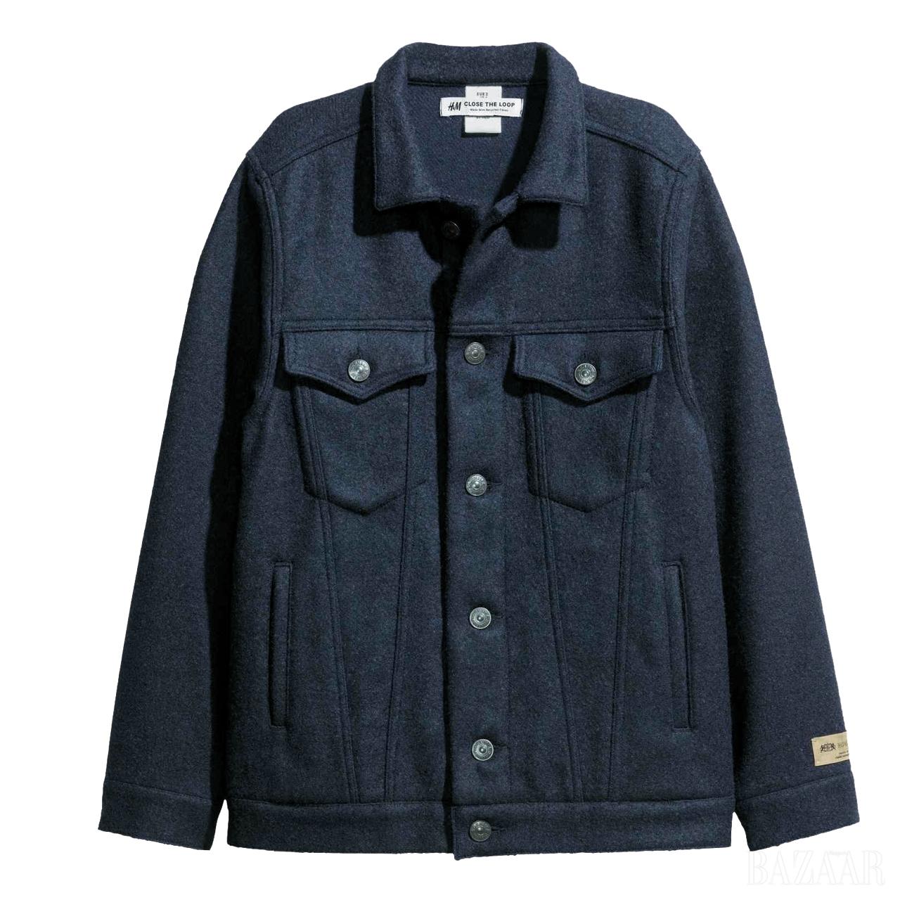 플랩 포켓이 돋보이는 울 재킷은 6만9천원으로 <strong>H&M</strong>