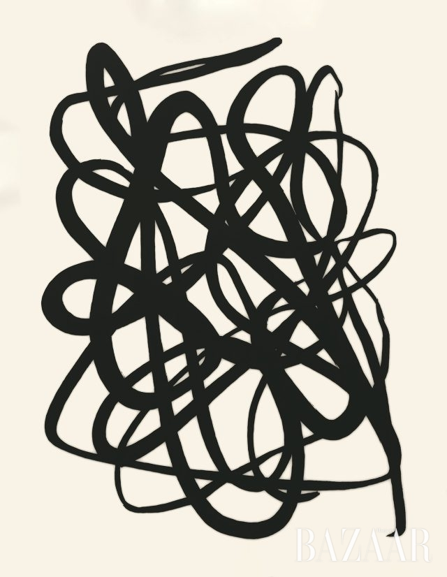 'Untitled', 캔버스에 아크릴 미디엄, 숯, 162×130cm, 2016