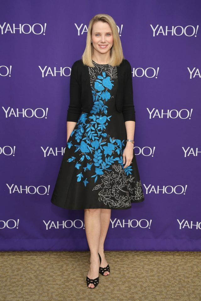 NEW YORK, NY - APRIL 27: Yahoo CEO Marissa Mayer attends the 2015 Yahoo Digital Content NewFronts at Avery Fisher Hall on April 27, 2015 in New York City. (Photo by Cindy Ord/Getty Images for Yahoo)