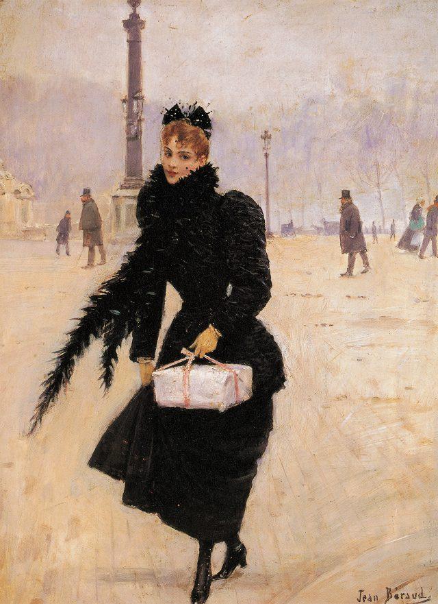 장 베로, '파리 여인', 1890년경, 35×26cm, 캔버스에 유채, 파리 카르나발레 미술관