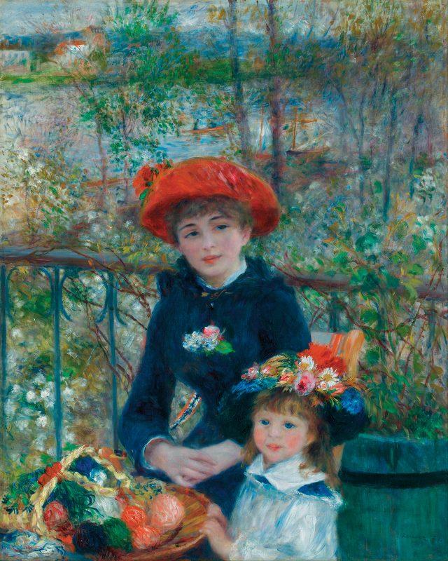 오귀스트 르누아르, '두 자매' 1881, 100.6×81cm, 캔버스에 유채, 시카고 아트 인스티튜트