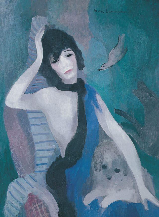 마리 로랑생, '코코 샤넬의 초상', 1923, 캔버스에 유채, 92×73cm, 파리 오랑주리 미술관