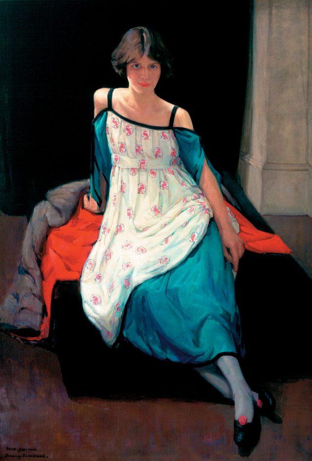 도로시 존스턴, '앤 핀리의 초상', 1920년경, 145.3×100.5cm, 캔버스에 유채, 에버딘 아트 갤러리 & 뮤지엄
