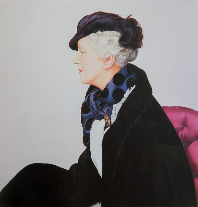 베르나르 부테 드 몽벨, '엘지 드 볼프 부인의 초상'. 1930, 캔버스에 유채, 개인 소장