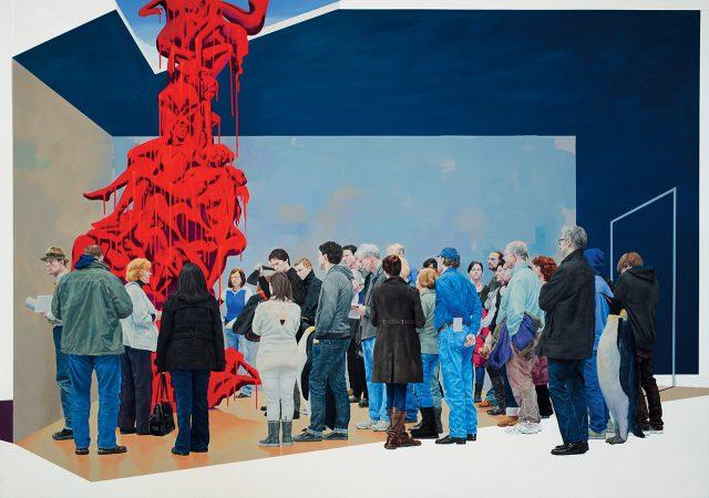 '익숙한 풍경-변덕과 욕망', 2015, 캔버스에 유채, 259.1×193.9cm