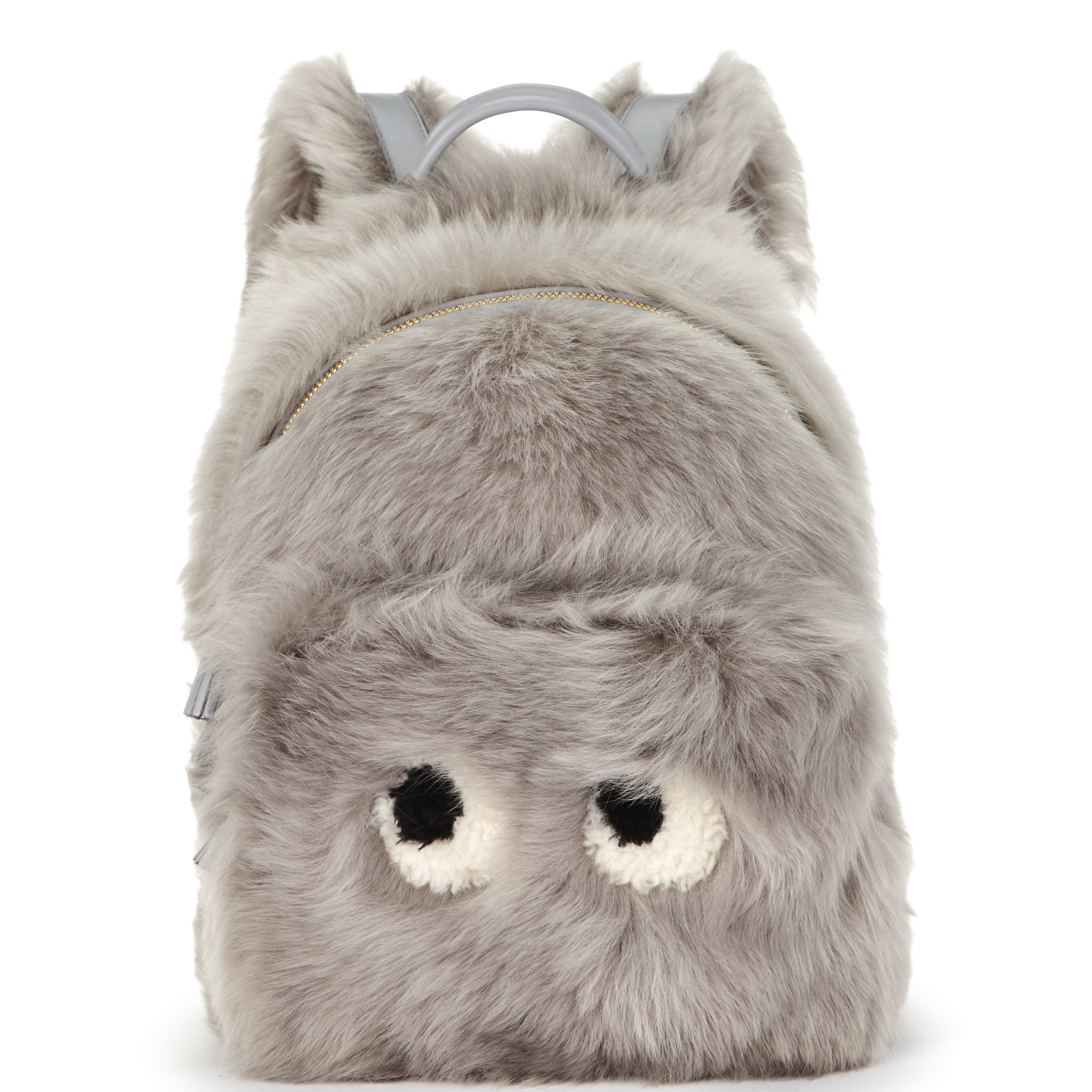 눈이 장식된 키치한 양털 소재 백팩은 2백만원대로 Anya Hindmarch 제품.