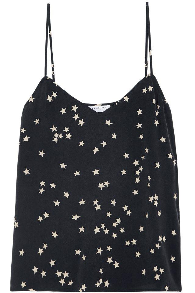 밤하늘의 별들을 연상시키는 프린트의 슬립 톱은 가격 미정으로 Equipment