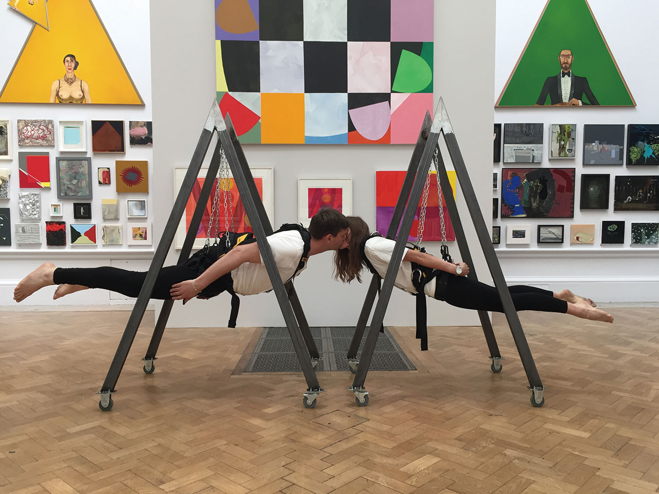 India Mackie and Declan Jenkins, 'Cantilever Kiss', Summer Exhibition, 2017 © Royal Academy of Arts