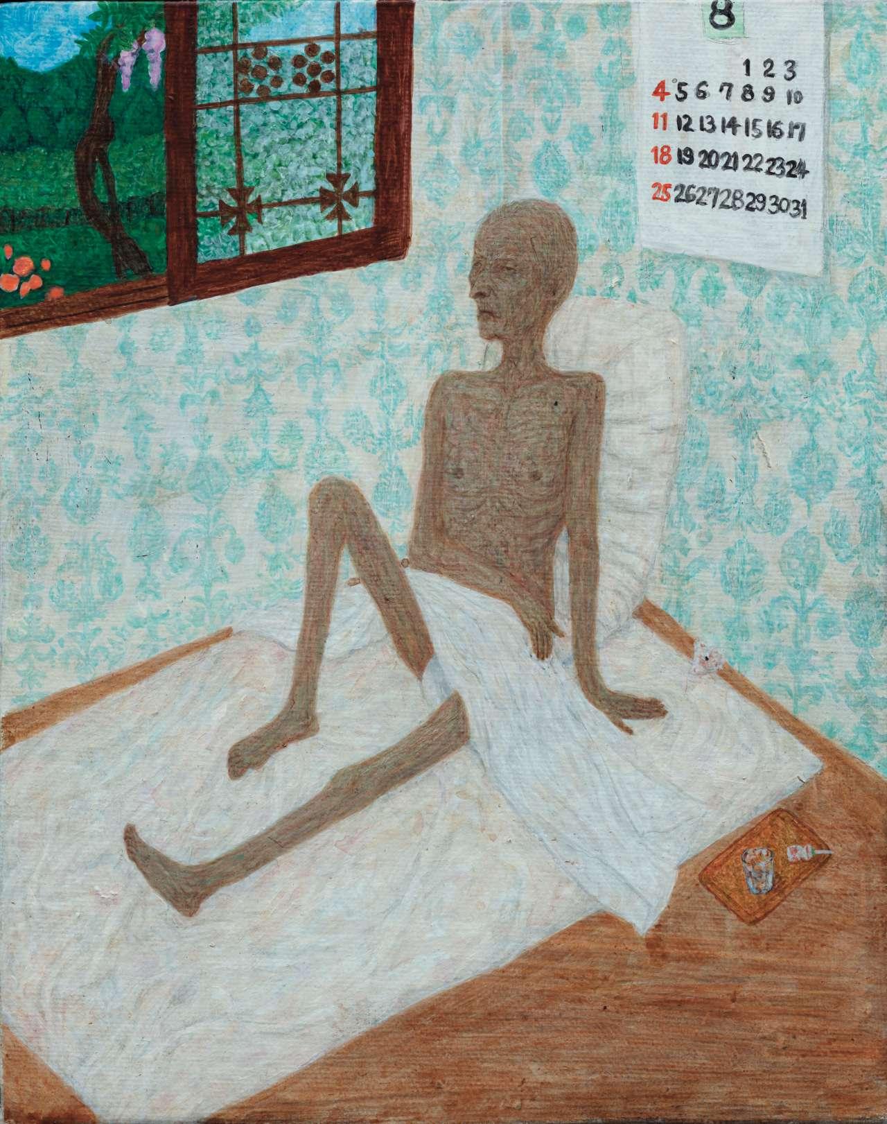 '더위의 냄새',캔버스에 아크릴릭,24×19cm, 2016,Courtesy of the artist and Kukje Gallery 이미지 제공: 국제 갤러리