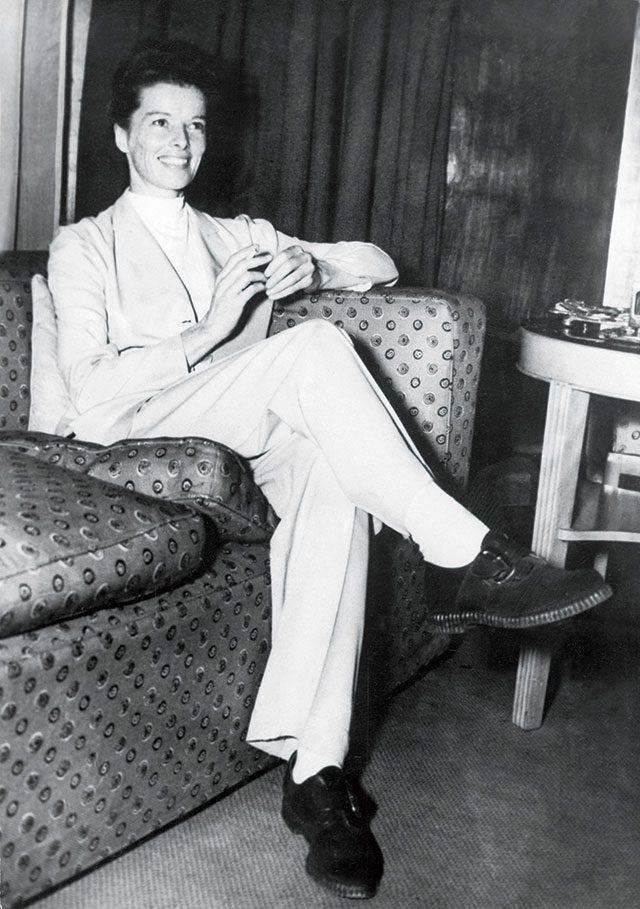 1951년 4월, 런던을 방문한 캐서린 헵번의 모습.