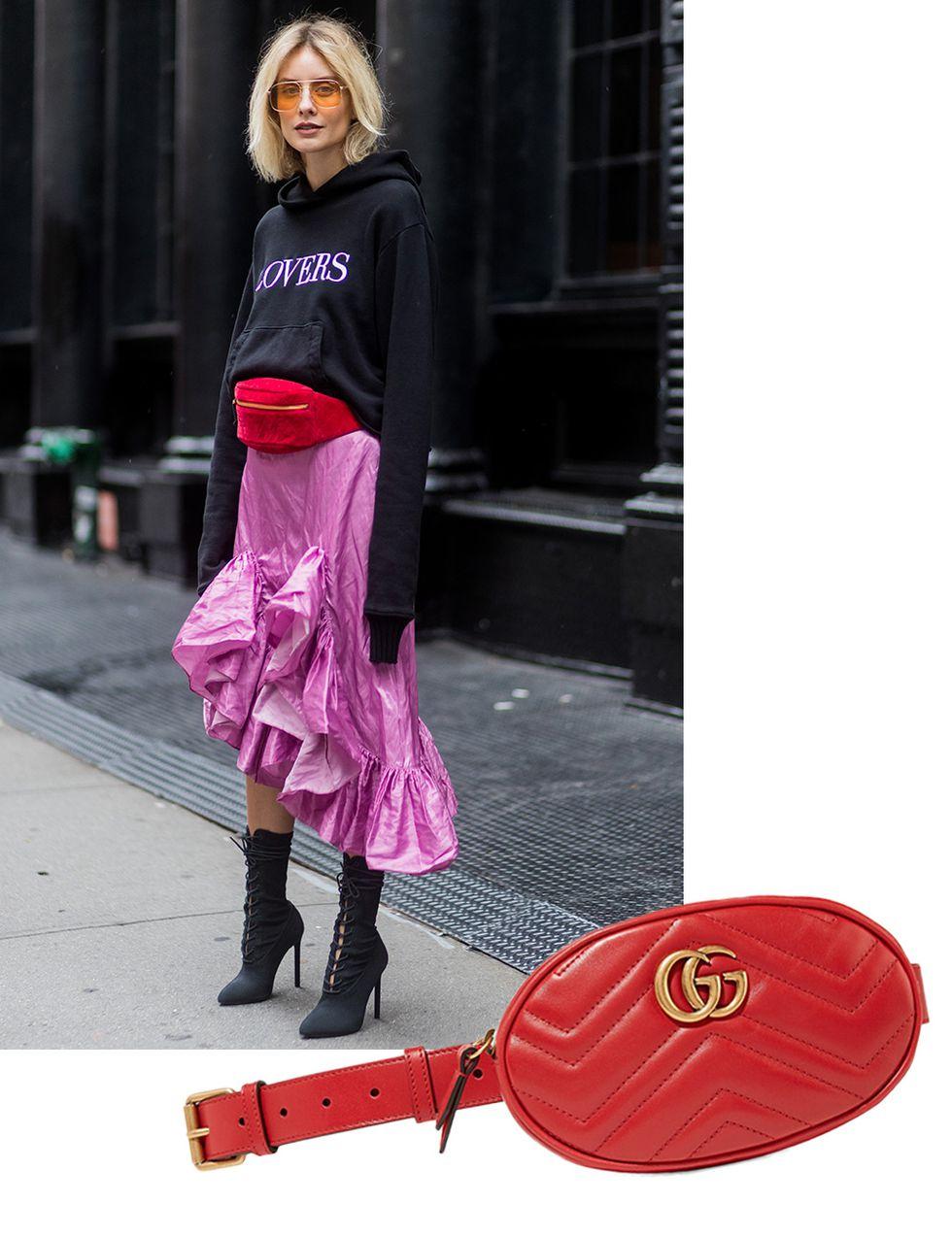 GG 로고로 포인트를 더한 벨트 백은 Gucci.