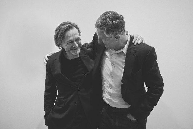 오프닝에서 2001년부터 갤러리스트와 작가로서 호흡을 맞춰온데이비드 즈워너와 마이클 보레만스.
