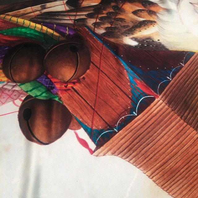 @Valextra이번 발렉스트라 스토어를 디자인한 아티스트 엘 가토 침니의 작품.