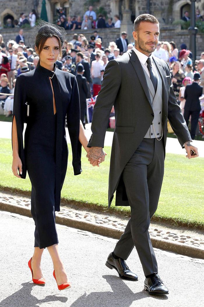 결혼식에 참석한 베컴 부부