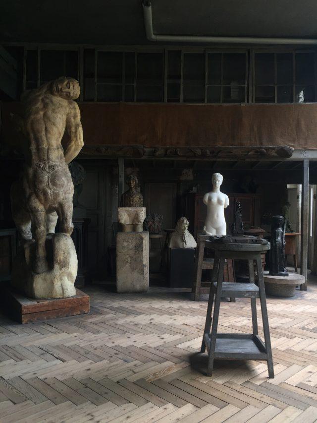 조각가 부르델의 아틀리에.