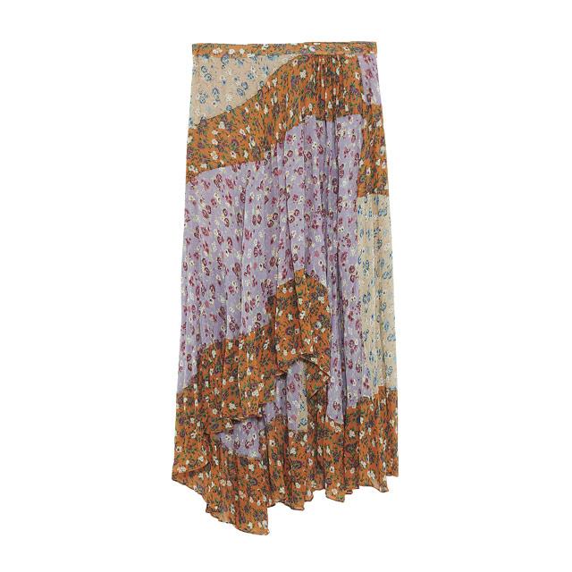 플로럴 패턴의 패치워크 시폰 스커트는 12만9천원으로 Zara