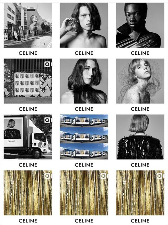 기존 업로드된 게시물들을 전부 삭제하고 새로운 로고의 시작을 알린 에디 슬리먼의 셀린