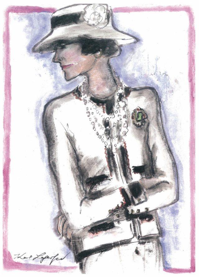 칼 라거펠트가 그린 코코 샤넬.