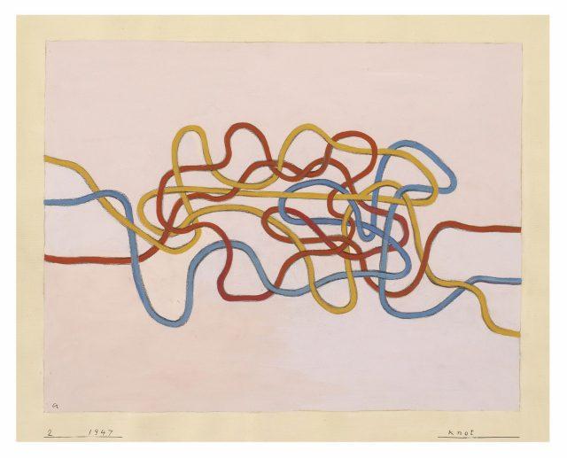 'Knot', 1947, 43.2×51cm, Gouache on paper.