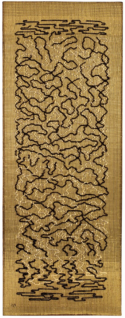 'Epitap,h', 1968, 1498×584mm, Pictorial weaving.