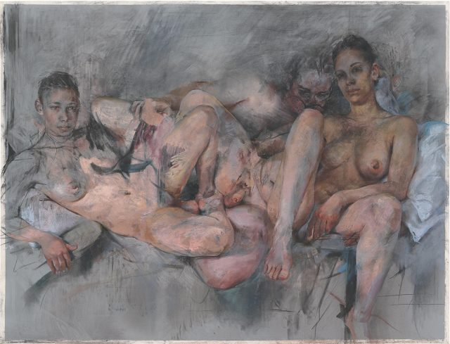 'Compass', 2013, 153×200cm, Charcoal and pastel on paper on board.