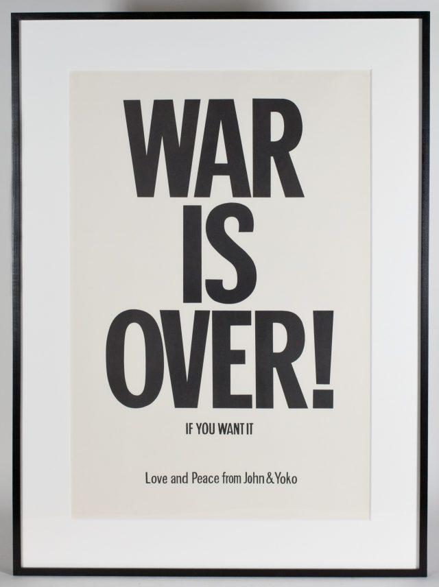 존 레논과 오노 요코, 'War is Over'(1969)