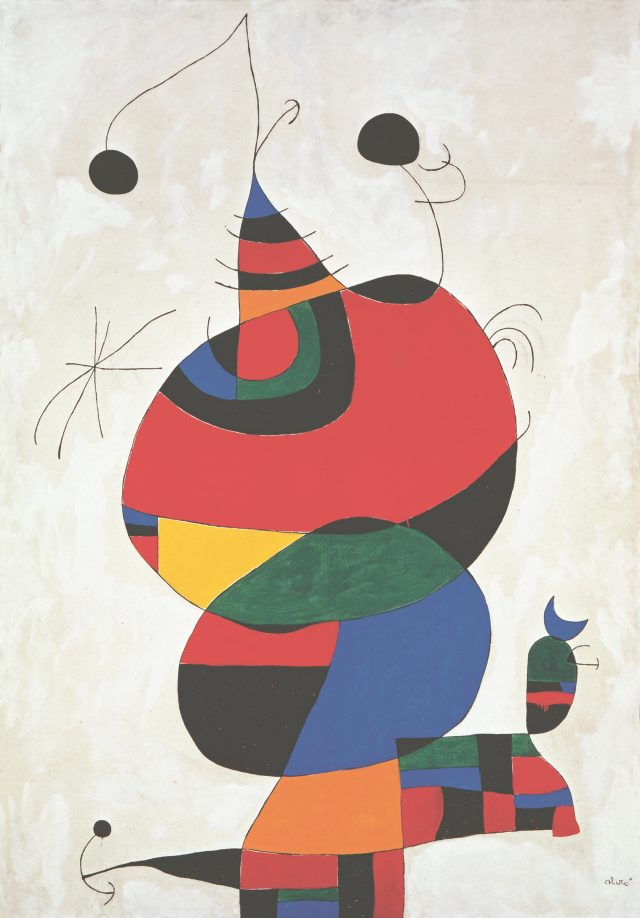 'Femme, oiseau, étoile'(Woman, bird and star) (파블로 피카소 오마주), 245×170cm, oil on canvas