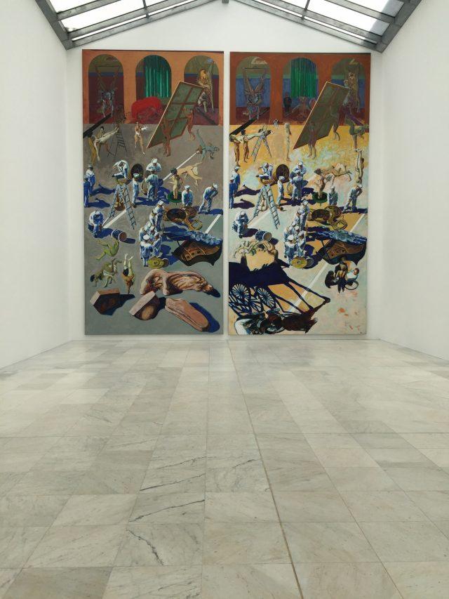 독일 출신 작가 노버트 타데우시(Norbert Tadeusz)의 거대한 회화작품.