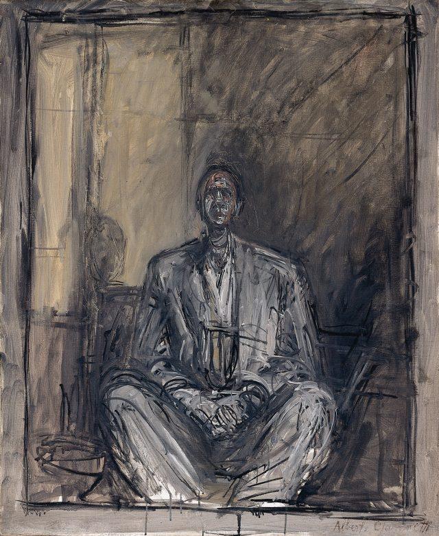 'Portrait of Jean Genet', 1954-1955, 73×60cm, 캔버스에 유화.