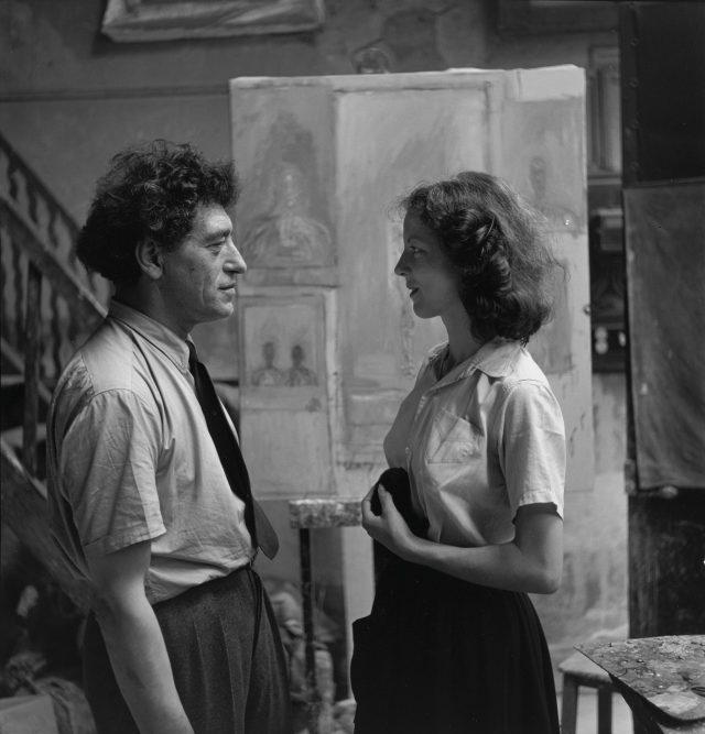 자코메티와 그의 아내 아넷, 1951.