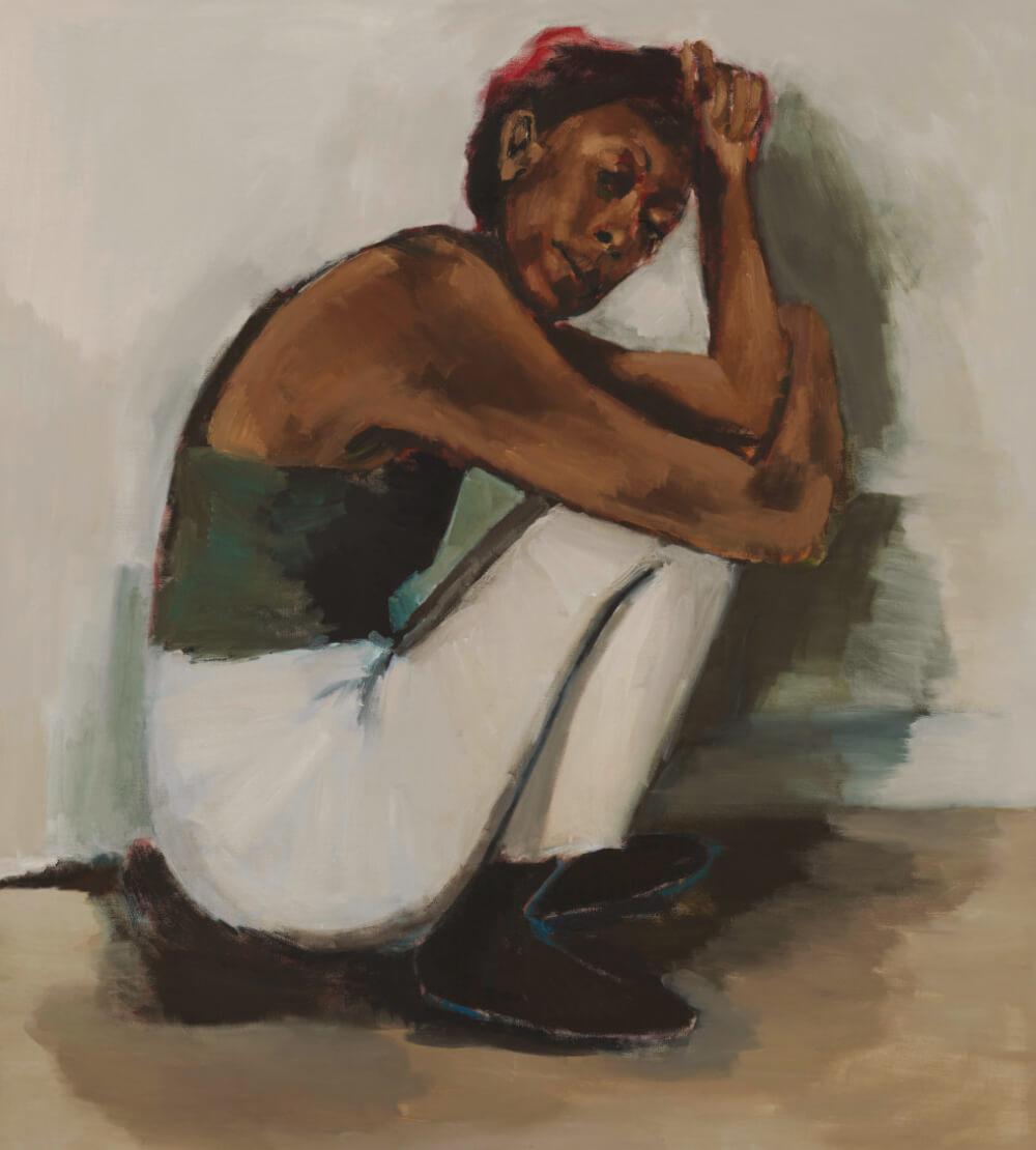 가나관. 리네테 이아돔-부아치 (Lynette Yiadom-Boakye), 'Radical Trysts', 2018, 리넨에 유채. Courtesy Corvi-Mora, London and Jack Shainman Gallery, New York. Photo © Marcus Leith