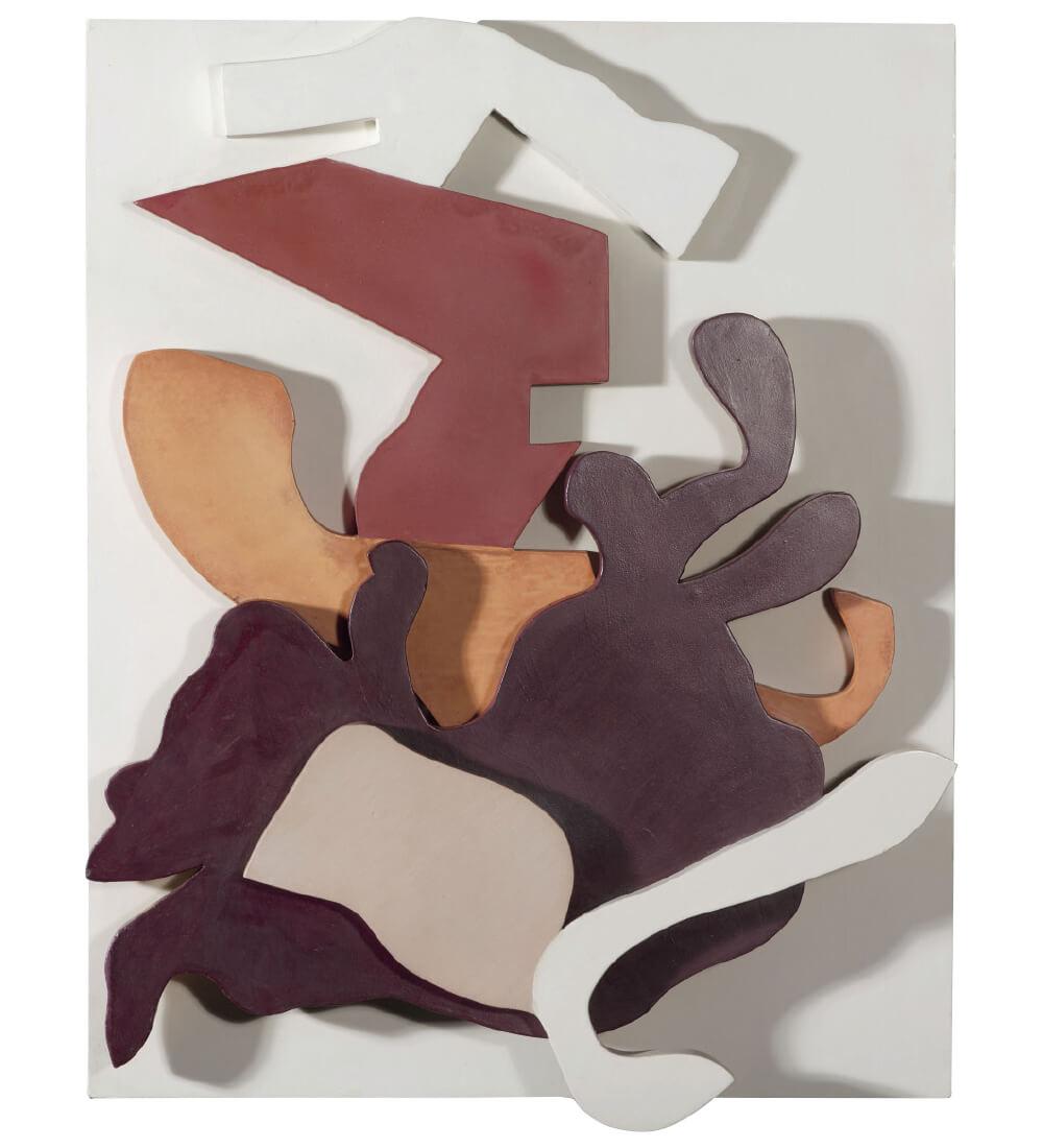 장 (한스) 아르프, 'Plant Hammer (Terrestrial Forms)', 1916,  채색된 나무,  62×50×8cm. Collection of the Gemeentemuseum Den Haag © 2019 Artists Rights Society (ARS), New York/VG Bild-Kunst, Bonn / © Jean Arp, by SIAE 2019
