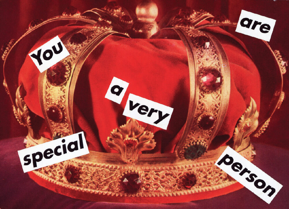 'Untitled (You are a Very Special Person)', 1995, Collage, 13.6×19.1cm 31×35cm (framed).