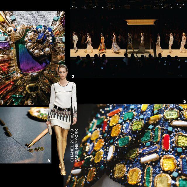 1, 3 예술작품과도 같은 디테일.2 서울 성수동 S팩토리에서 열린 2018/19 파리-뉴욕 공방 컬렉션 쇼의 피날레. 4 섬세한 헨드메이드 작업.