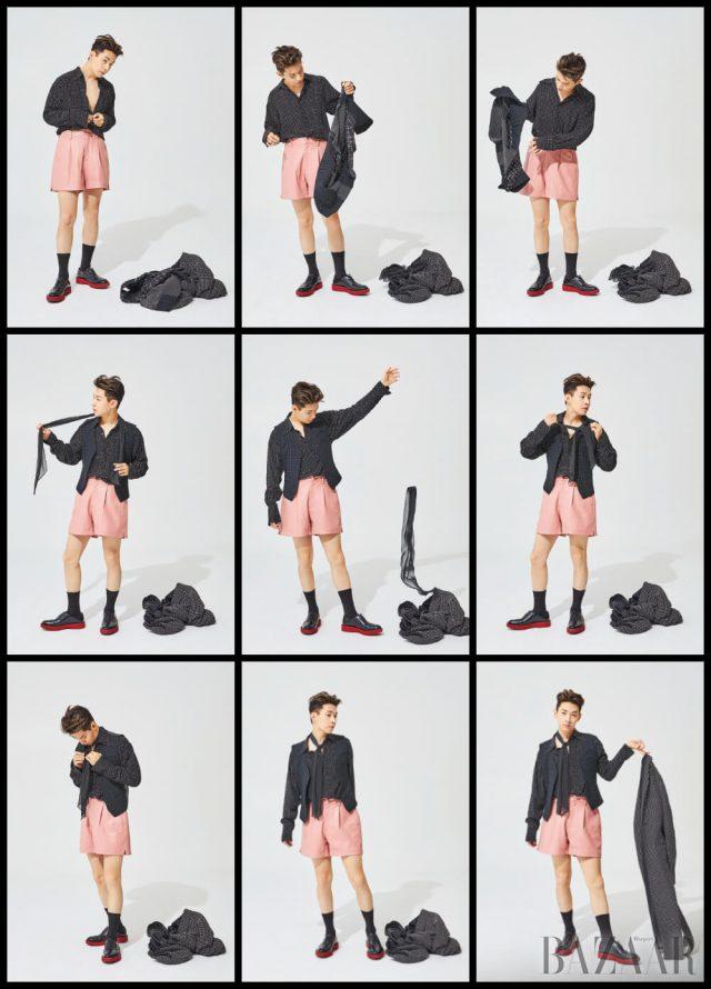 코트, 셔츠, 베스트, 스카프는 모두 Lementeque, 팬츠는 Ordinary Peolple, 슈즈는 Salvatore Ferragamo, 양말은 스타일리스트 소장품.